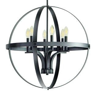 Gracie Oaks Aleria 6-Light Globe Chandelier