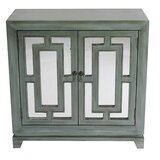 Narberth 2 Door Mirrored Accent Cabinet by Bungalow Rose