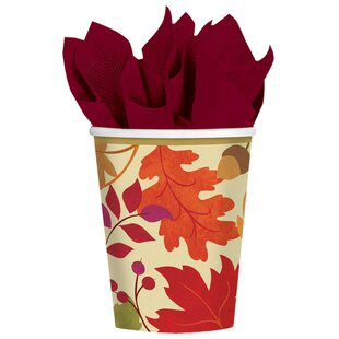 Autumn Festive Fall Paper Disposable Everyday (Set of 18)