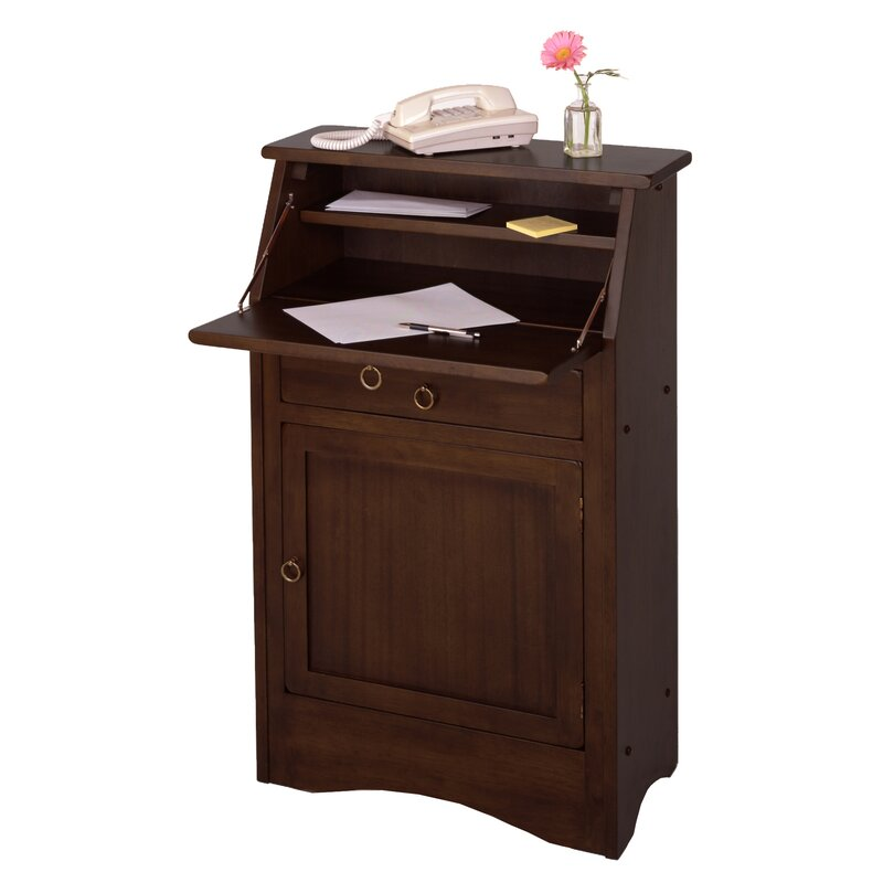 Red Barrel Studio Lotts Solid Wood Secretary Desk Reviews Wayfair