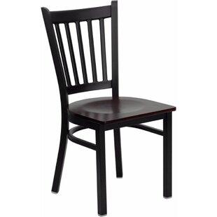 Winston Porter Anissa Vertical Back Metal Restaurant Dining Chair