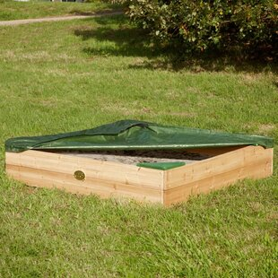 115cm Square Sandbox With Cover By Freeport Park