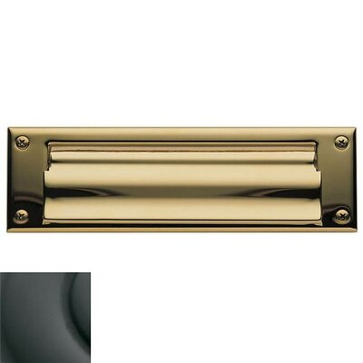 Baldwin 10 in x 3 Brass Mail Slot Color: Oil Rubbed Bronze