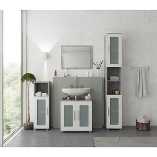 Vetter 3 Piece Bathroom Furniture Set With Mirror By 17 Stories