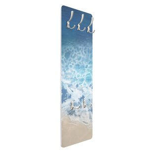 Ebb And Flow In Colour II Wall Mounted Coat Rack By Symple Stuff