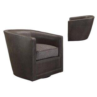 Ria Swivel Barrel Chair by Leathercraft