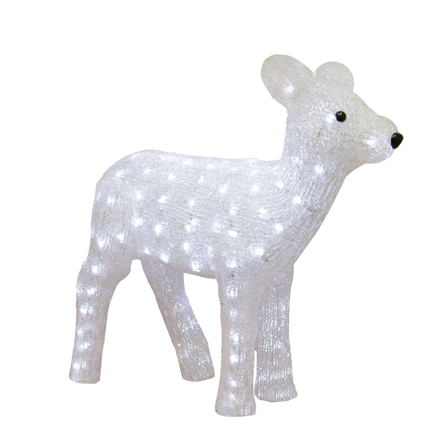 Northlight Pre Lit Commercial Grade Acrylic Baby Reindeer Christmas Lighted Display Wayfair