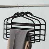 Morganti Plastic Non-Slip Multi - Layer Hanger for Scarf (Set of 3)
