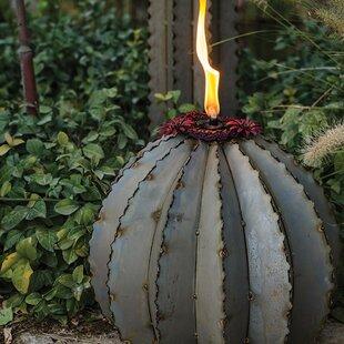 Desert Steel Golden Barrel Garden Torch
