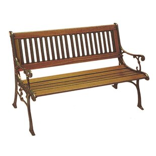 Carolina Wood and Cast Iron Park Bench by DC America