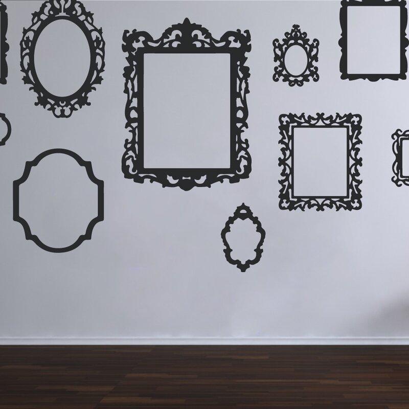 The Decal Guru Antique Picture Frames Wall Decal | Wayfair