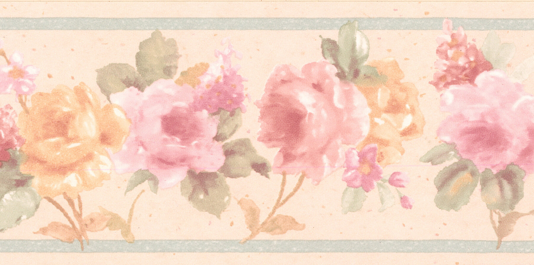 Brewster Home Fashions Luanne Floral 15 X 2 88 Wallpaper Border