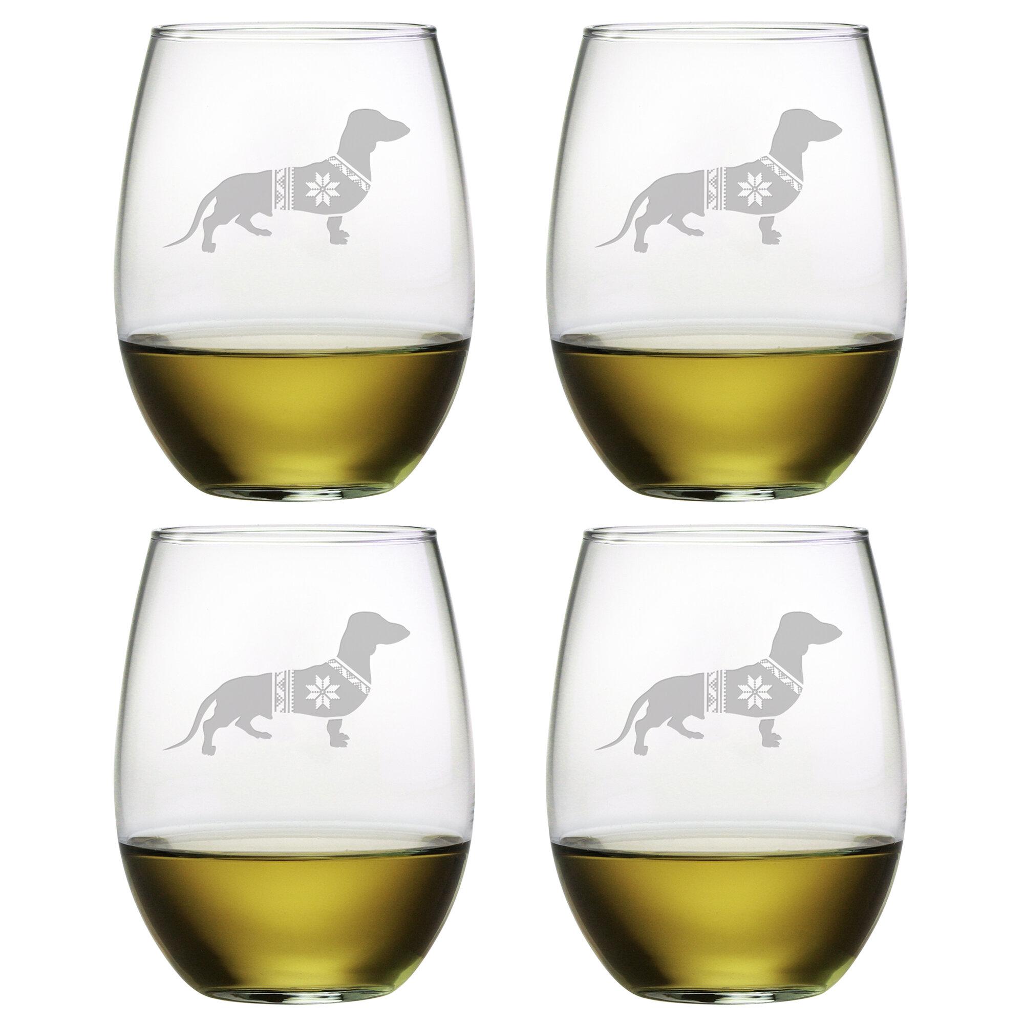 20 oz Jumbo Wine Glass Corgi