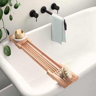 Buying Shayna Adjustable Bamboo Bath Caddy ByMistana