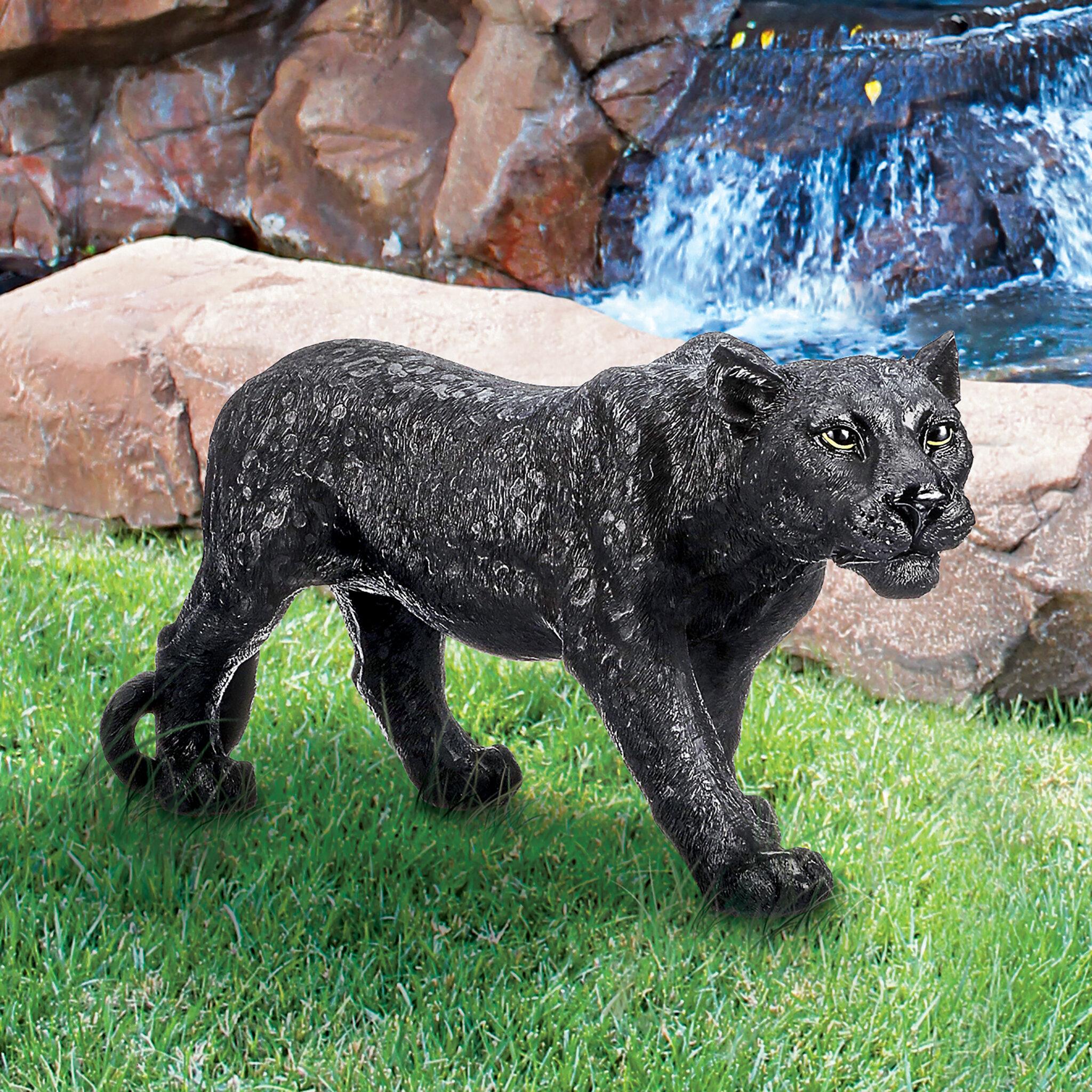 Design Toscano Shadowed Predator Black Panther Statue Reviews Wayfair