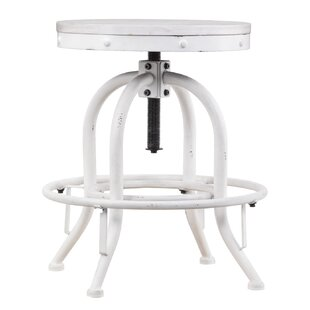 Alessia Height Adjustable Swivel Bar Stool By Borough Wharf