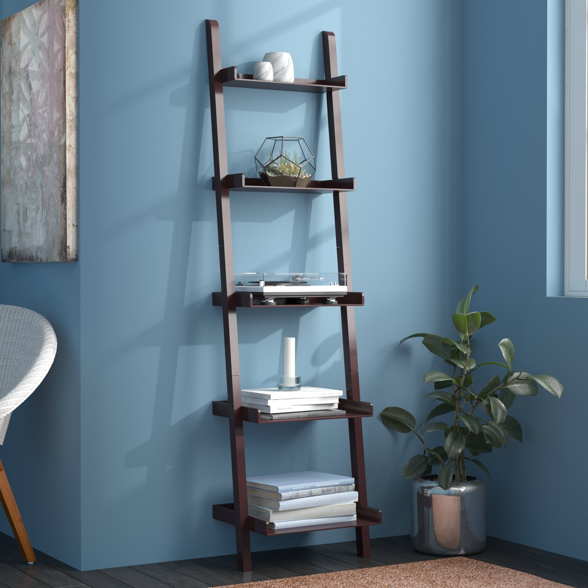 Pfaff 5 Tier Ladder Bookcase