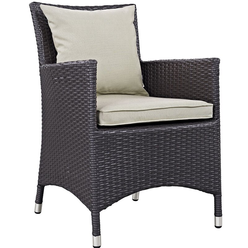 """Sol 72 Outdoor  Brentwood 11 Piece Dining Set with Cushion Table Size: 90.5"""" L x 63"""" W, Fabric Color: Beige"""
