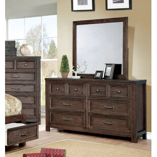 Cuvier 6 Drawer Double Dresser with Mirror