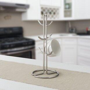 Home Basics Satin Nickel Mug Tree