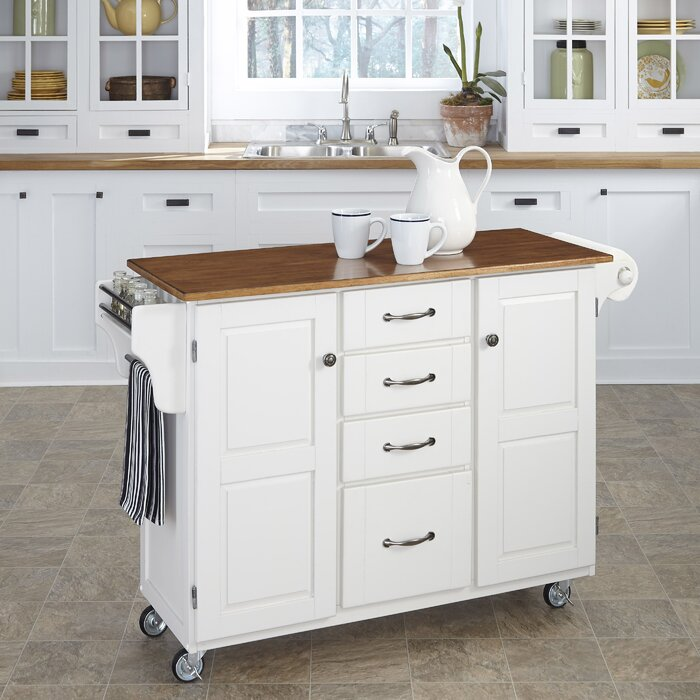 Legler-a-Cart Kitchen Island with Solid Wood Top