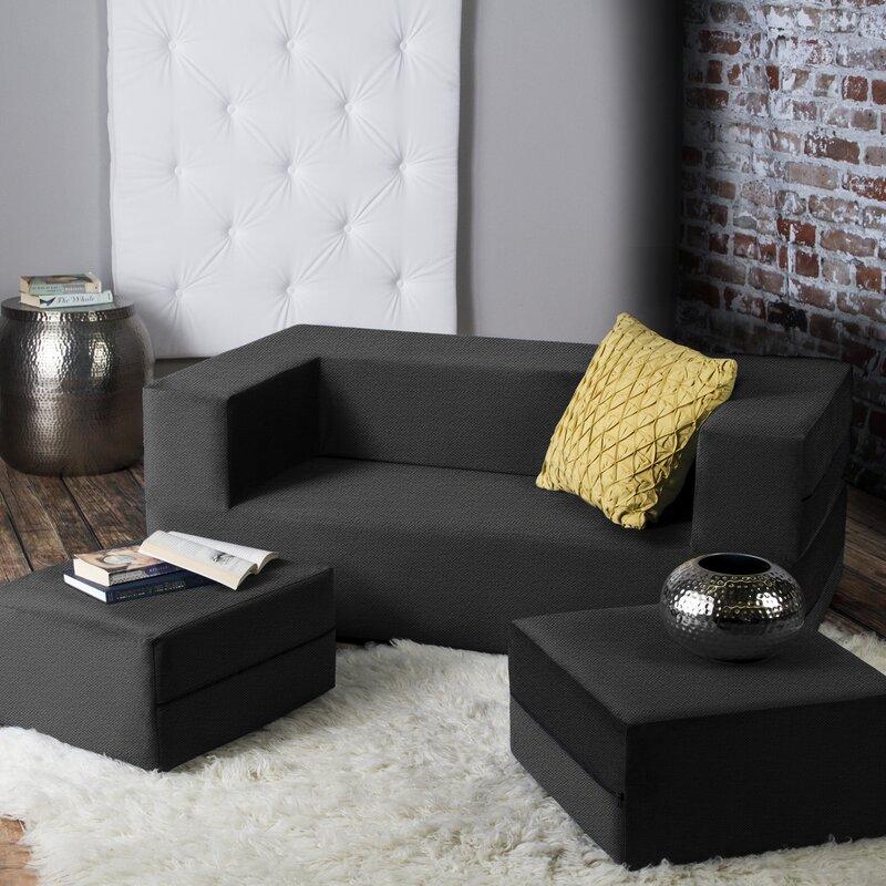 Awe Inspiring Zipcode Design Eugene Modular Loveseat Ottoman Sleeper Ncnpc Chair Design For Home Ncnpcorg