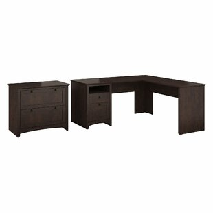 Darby Home Co Fralick 2 Piece L-Shaped Desk Office Suite