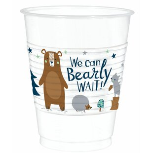 Bearly Wait Baby Shower Plastic Disposable Every Day Cup (Set of 75)