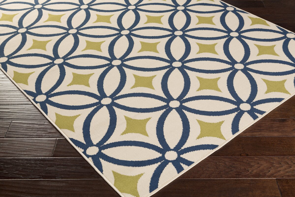 Charlton Home Osage Navy Indoor/Outdoor Area Rug & Reviews | Wayfair