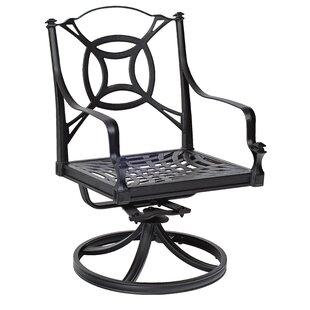 Woodard Isla Swivel Rocker Patio Dining Chair with Cushions