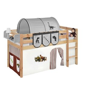 Curt European Single Mid Sleeper Bed With Curtain By Zoomie Kids