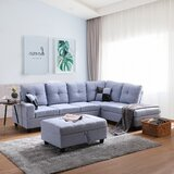 Carnegia 103.5'' Sofa & Chaise with Ottoman by Latitude Run®