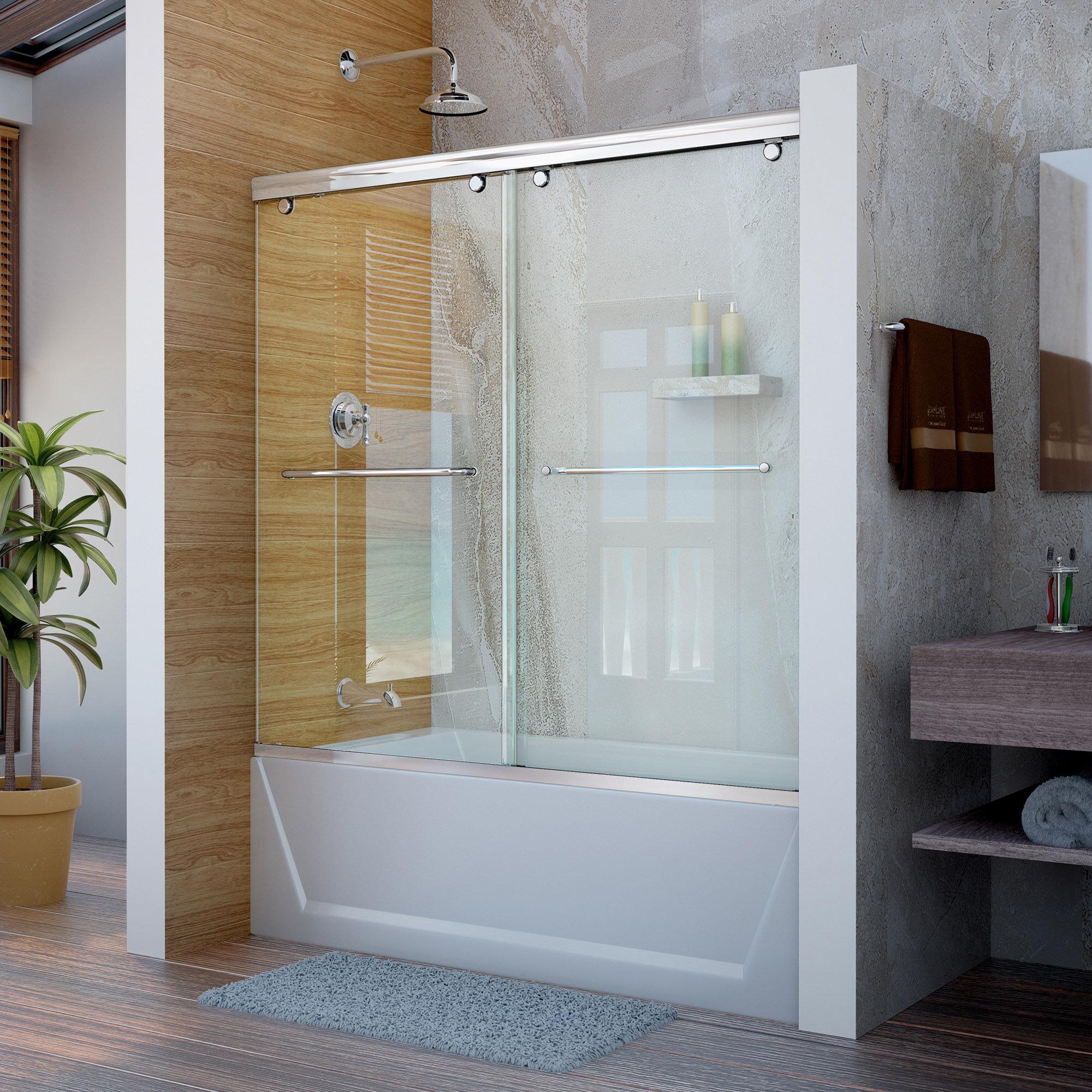 semi frameless single shower doors 2. DreamLine Charisma 60\ Semi Frameless Single Shower Doors 2