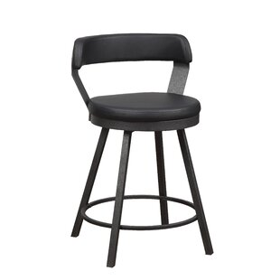 Hairston 24 Swivel Bar Stool (Set Of 2) by Williston Forge Find