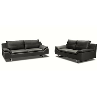 New Spec Inc Obbe 3 Piece Leather Living ..