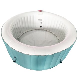 ALEKO Round Hot Tub 4-Person 130-Jet Inflatable Plug and Play Spa