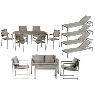 Dorsey 15 Piece Conversational Set with Cushions