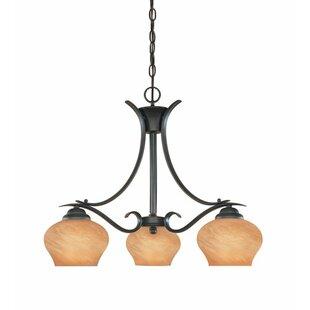 Millwood Pines Stayton 3-Light Shaded Chandelier