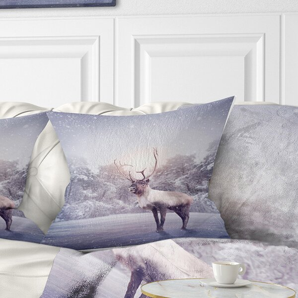 East Urban Home Animal Huge Reindeer Standing Pillow Wayfair