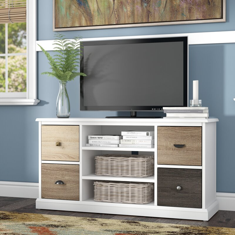 Snowy Mountain 47 TV Stand Red Barrel