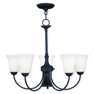 Reviews Grady Modern 5-Light Shaded Chandelier By Alcott Hill