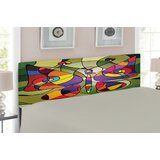 Ambesonne Abstract Butterfly Upholstered Panel Headboard by East Urban Home