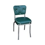 Arendt Tufted Upholstered Side Chair in Chrome by Wrought Studio™