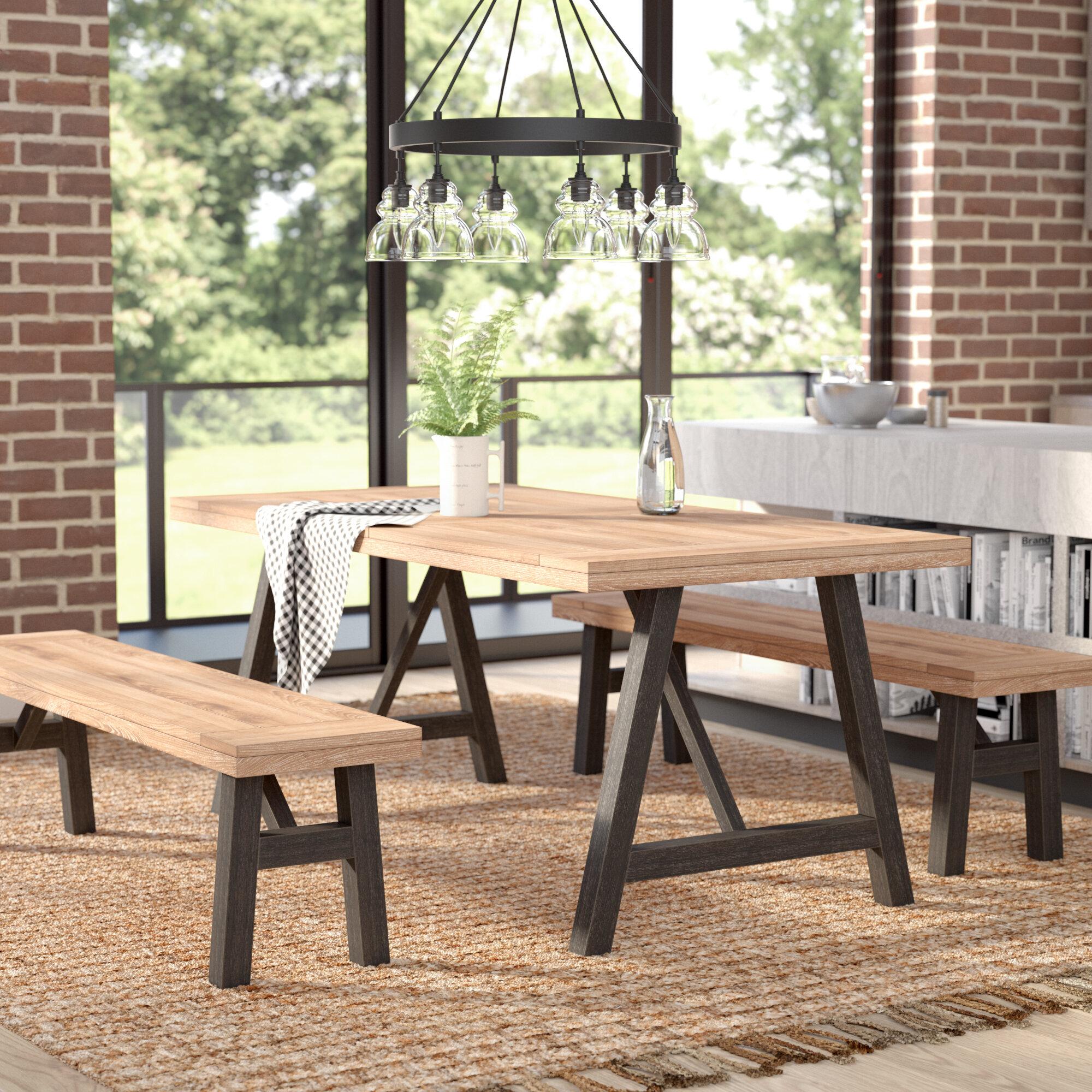 Laurel Foundry Modern Farmhouse Guillaume 3 Piece Dining Set ...