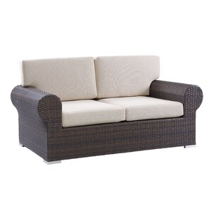 Brookhaven Wicker Loveseat with Cushions