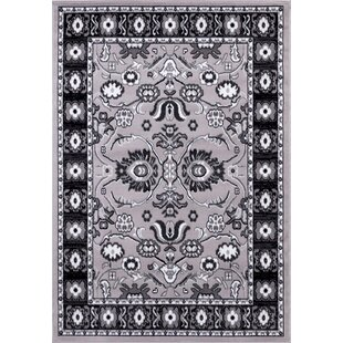 Affordable Gibraltar Gray/Black Area Rug By Charlton Home