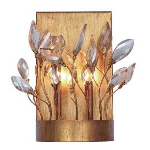 Bungalow Rose Pinion Crystal 2-Light Vanity Light