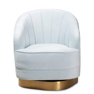 Claar Studio Luxe Royal Swivel Barrel Chair