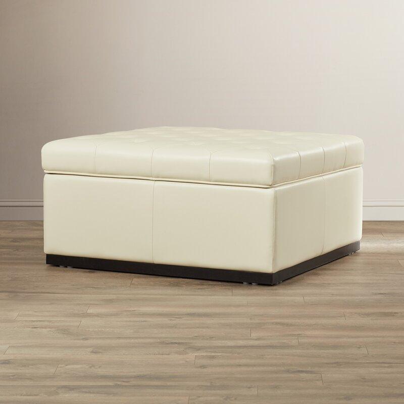 5West Leather Storage Ottoman