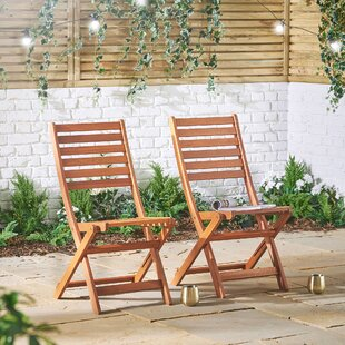 Mihos Folding Garden Chair (Set Of 2) By Sol 72 Outdoor